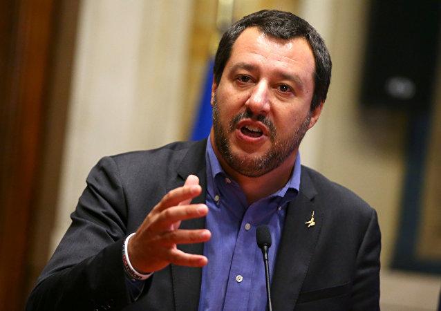 Matteo Salvini, el ministro del Interior de Italia