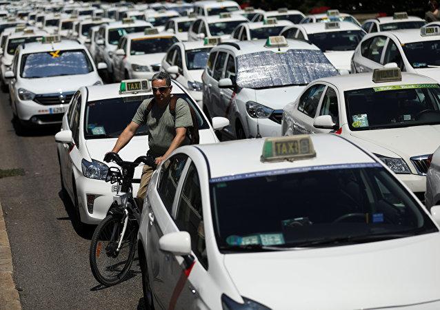 Huelga de taxistas en España