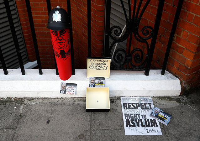 La Embajada de Ecuador en Londres, donde se encuentra Julian Assange