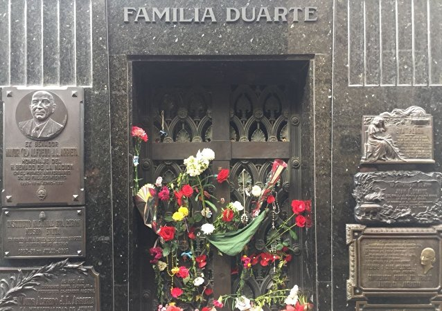 Cementerio de Recoleta, donde yace el cuerpo de María Eva Duarte de Perón. Buenos Aires, Argentina