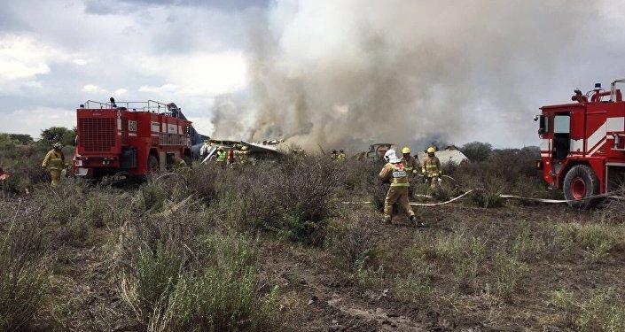 Siniestro de un avión de pasajeros en México