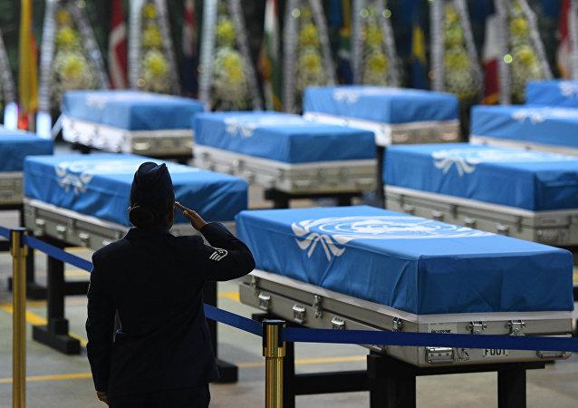 Restos mortales de soldados estadounidenses