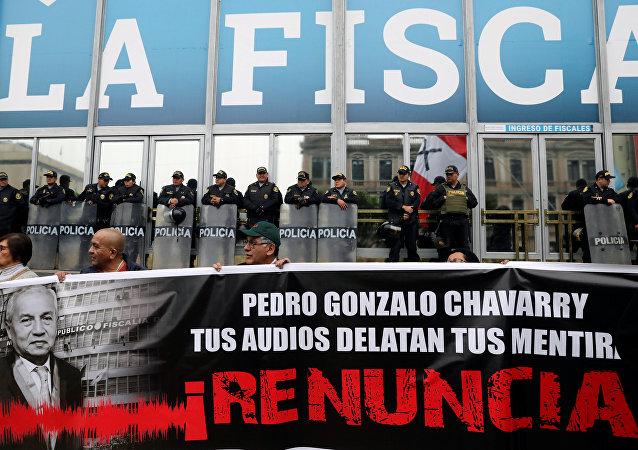 Protestas en  Lima contra corrupción