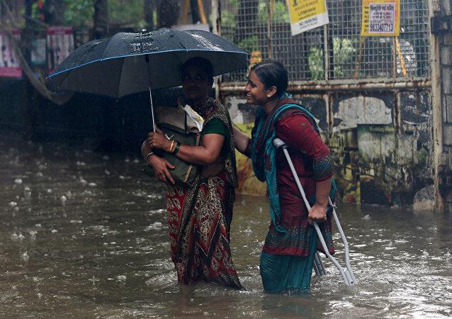 Lluvias monzónicas en la India