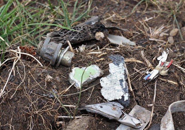 Lugar del siniestro del MH17 en la región de Donetsk