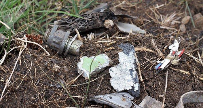 Lugar del siniestro del MH17 en el este de Ucrania