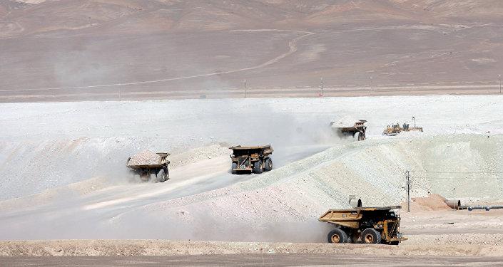Mina de cobre en Antofagasta, Chile