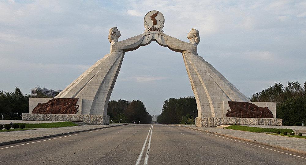Monumento de reunificación de las dos Coreas
