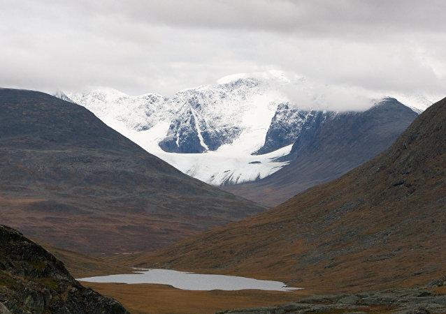 El monte Kebnekaise en Suecia