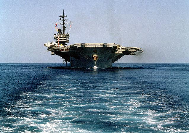 El portaviones estadounidense USS America (archivo)