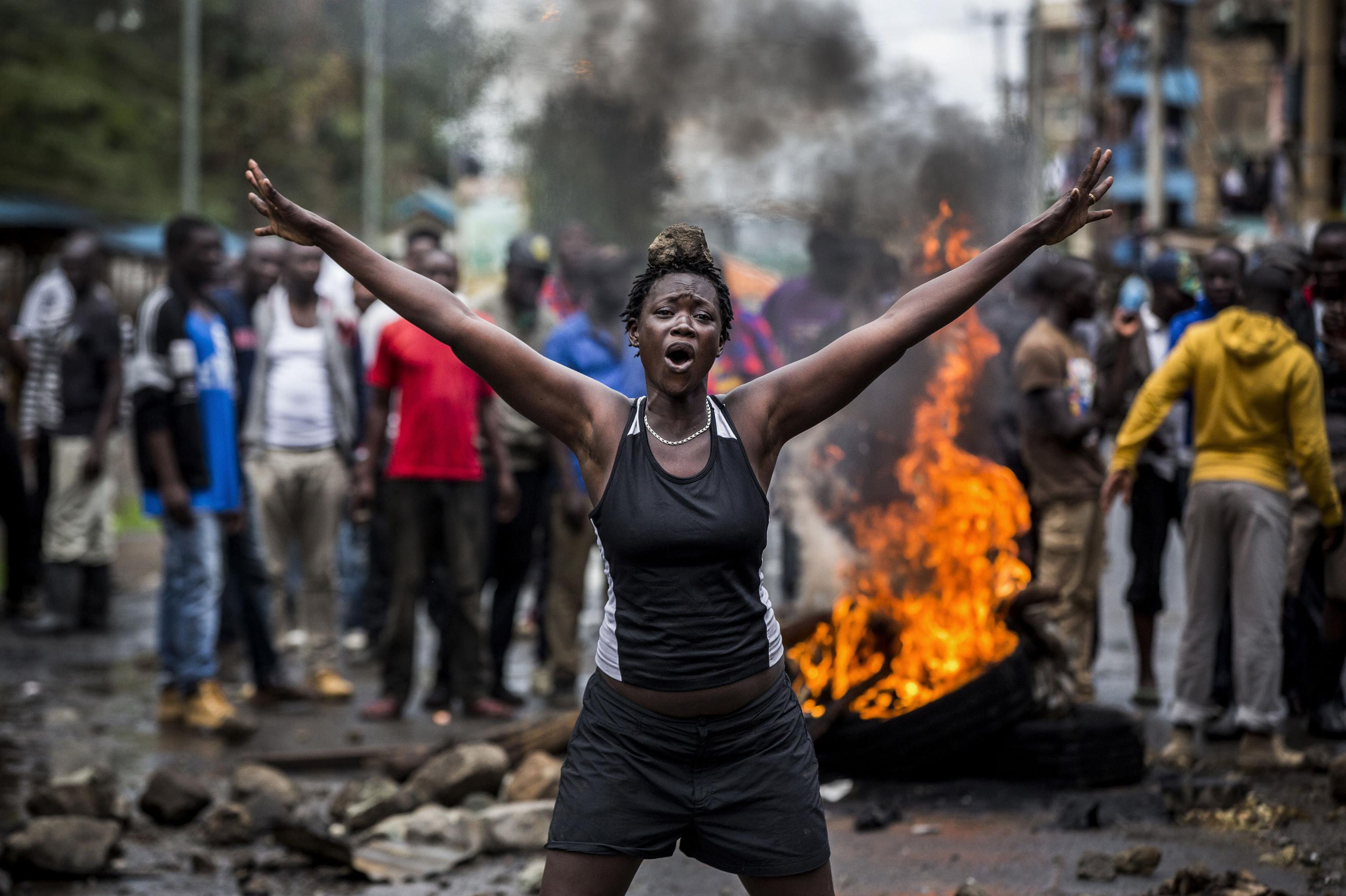 'Disturbios en Kenia después de las elecciones', foto del fotógrafo español Luis Tato