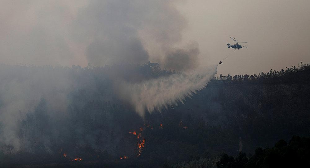Un incendio en Portugal