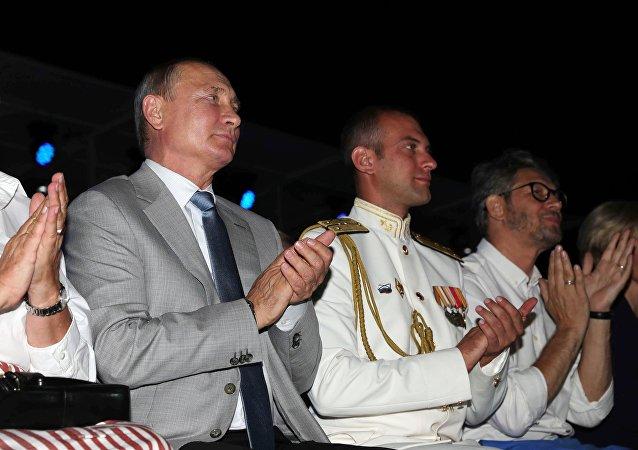 Vladímir Putin, el presidente ruso, en la inauguración del festival Ópera en Quersoneso
