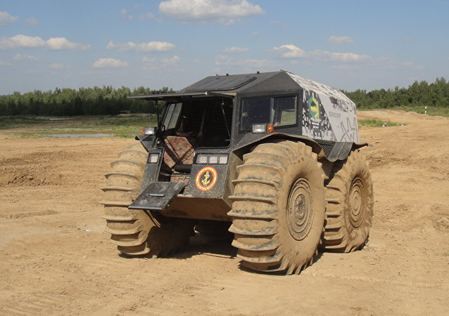 El vehículo todoterreno ruso Sherp