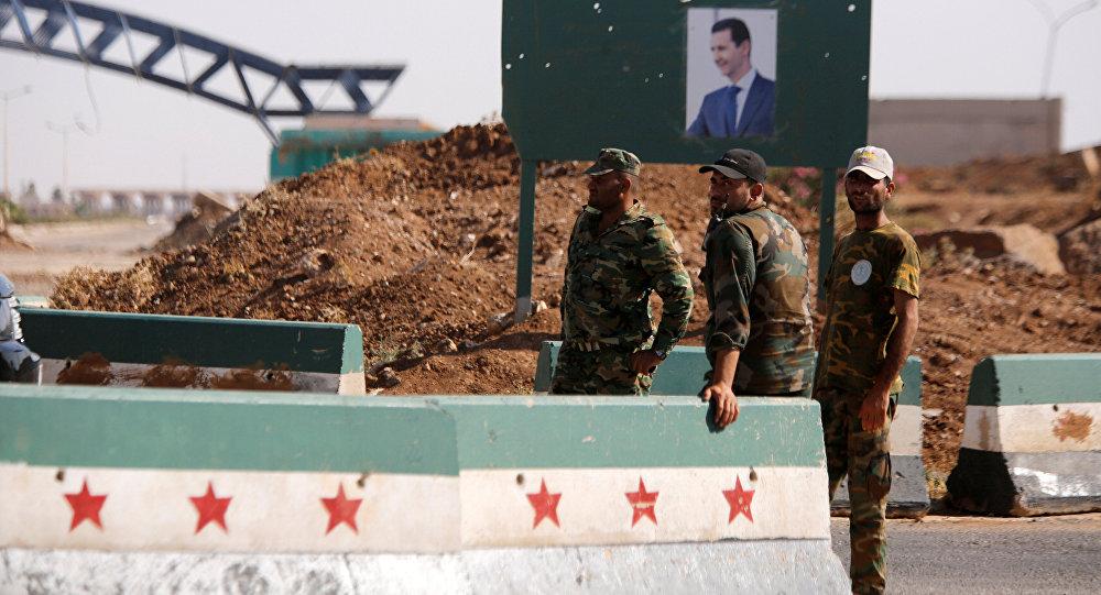 Los militares de Siria en la provincia de Deraa