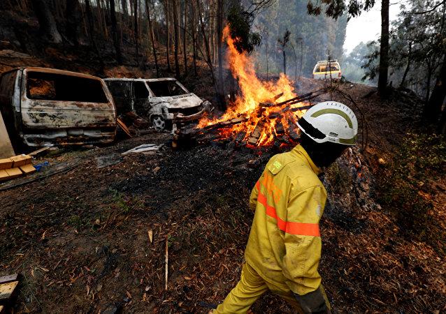 Incendios forestales en Portugal