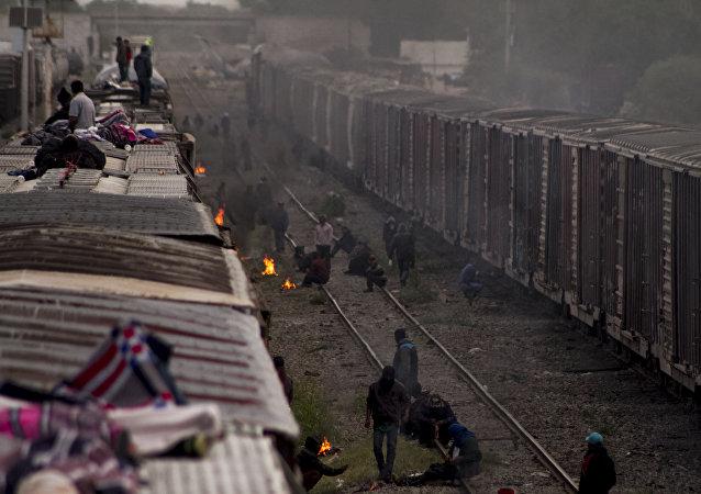 Los migrantes centroamericanos (archivo)