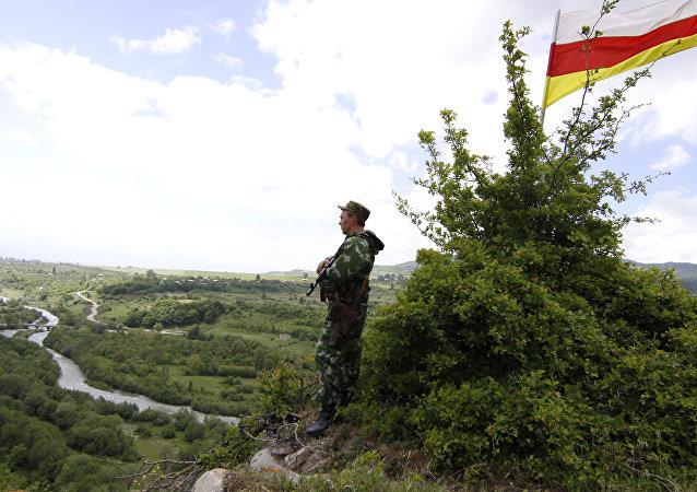 La frontera entre Georgia y Osetia del Sur (archivo)