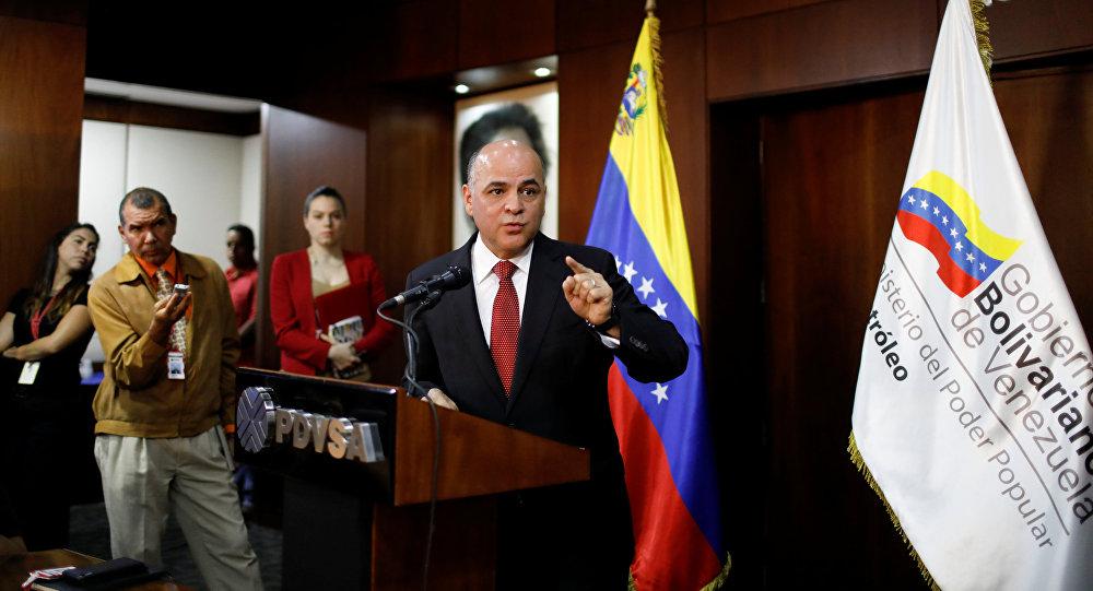 Manuel Quevedo, el ministro de Petróleo venezolano y el presidente de la compañía petrolera PDVSA