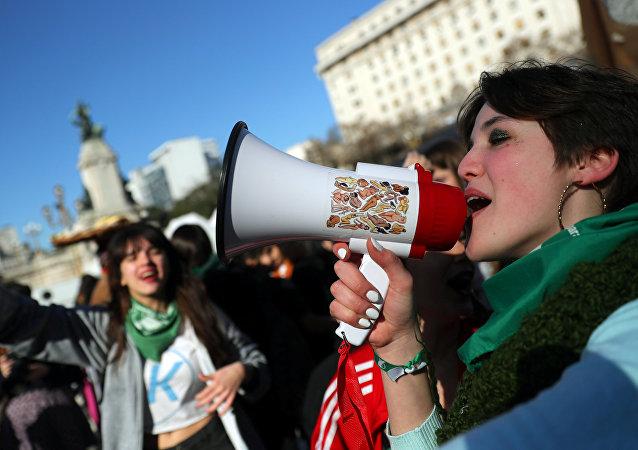 Marcha a favor de la legalización del aborto en Buenos Aires, Argentina