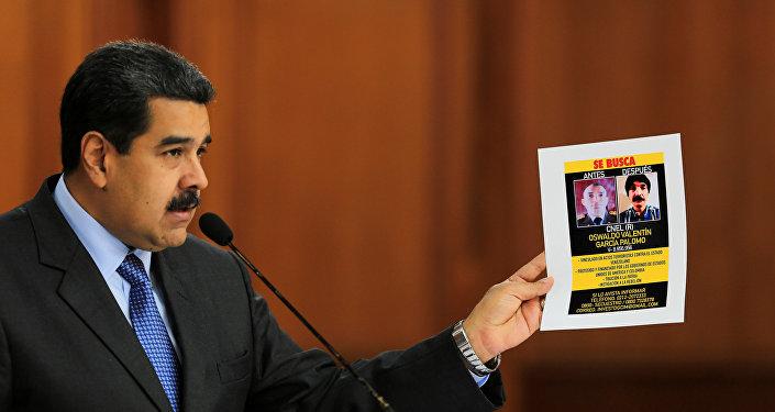 El presidente venezolano, Nicolás Maduro, muestra las pruebas del atentado en su contra
