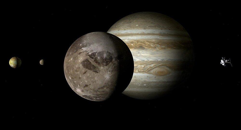 Ganimedes, el satélite natural más grande de Júpiter y de todo el sistema solar