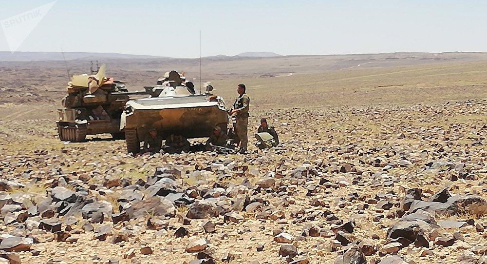 Militares sirios expulsan a los terroristas del desierto en Al Suwaida