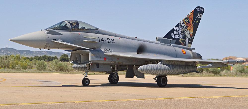 Eurofighter EF2000 Typhoon del Ejército del Aire de España (archivo)