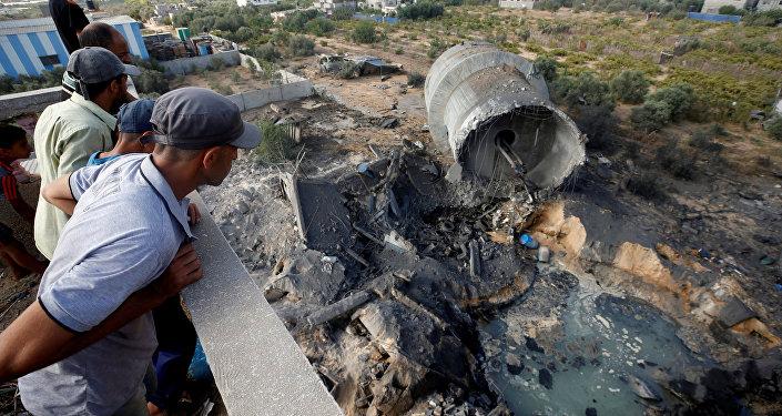 Consecuencias de los bombardeos israelíes en la Franja de Gaza