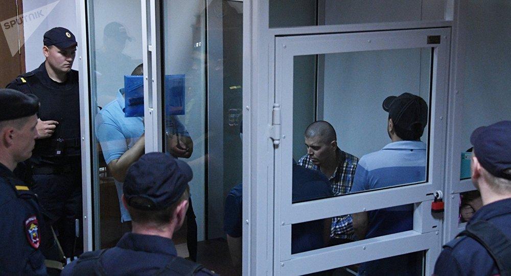 Miembros de la 'banda GTA' en Rusia