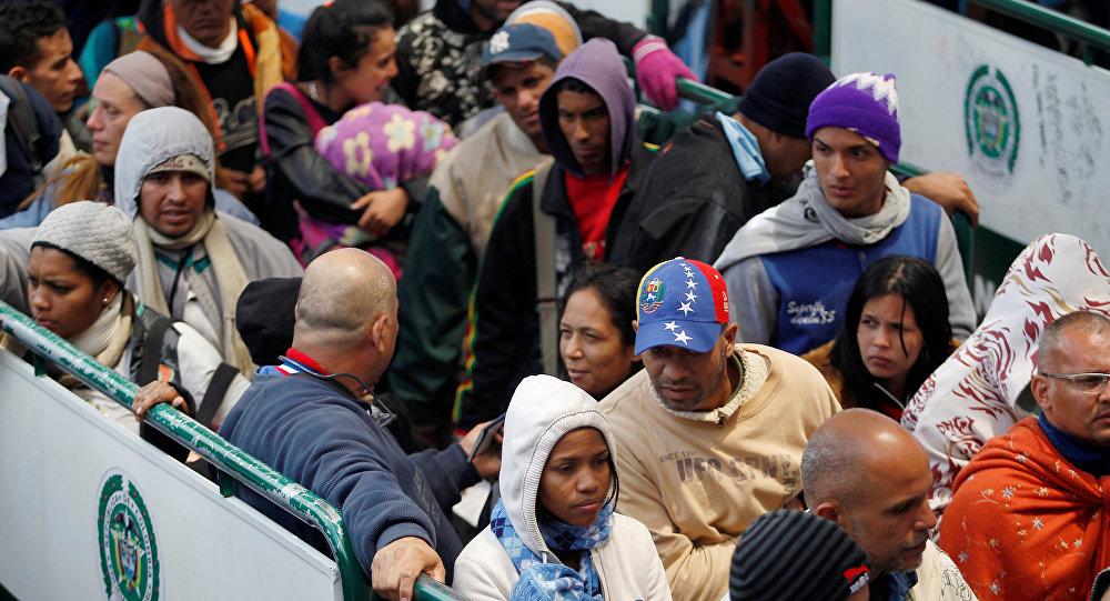 Migrantes venezolanos en Ecuador