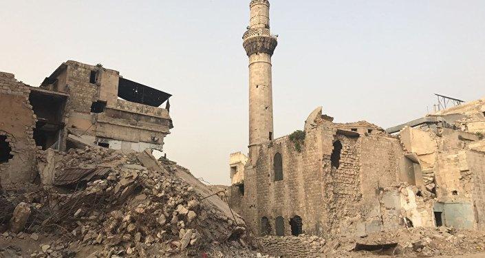 Los minaretes de las mezquitas punto estratégico para francotiradores, Siria