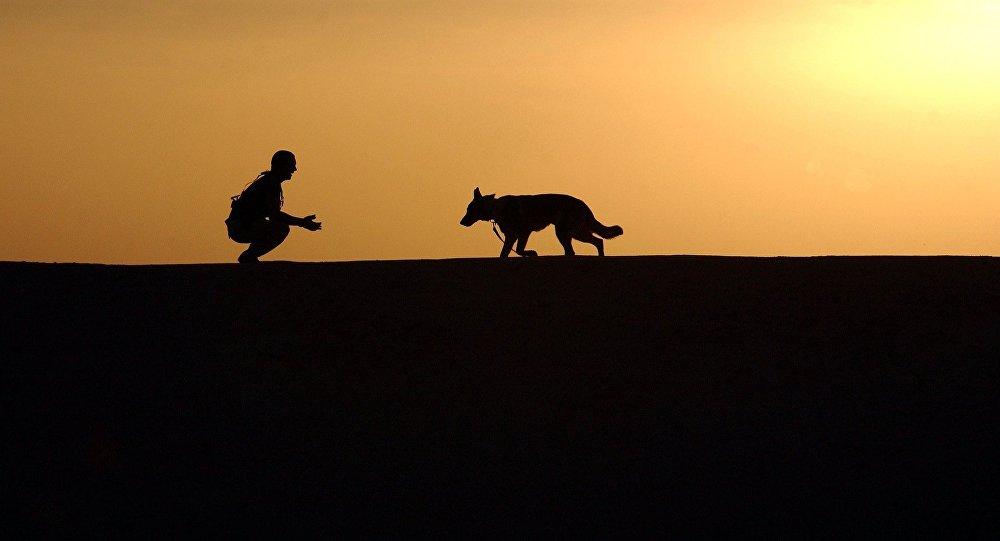 Un hombre y su mascota (archivo)