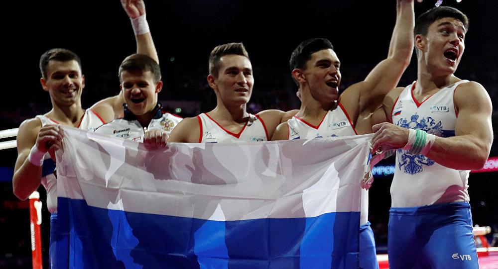 La selección rusa de gimnasia artística