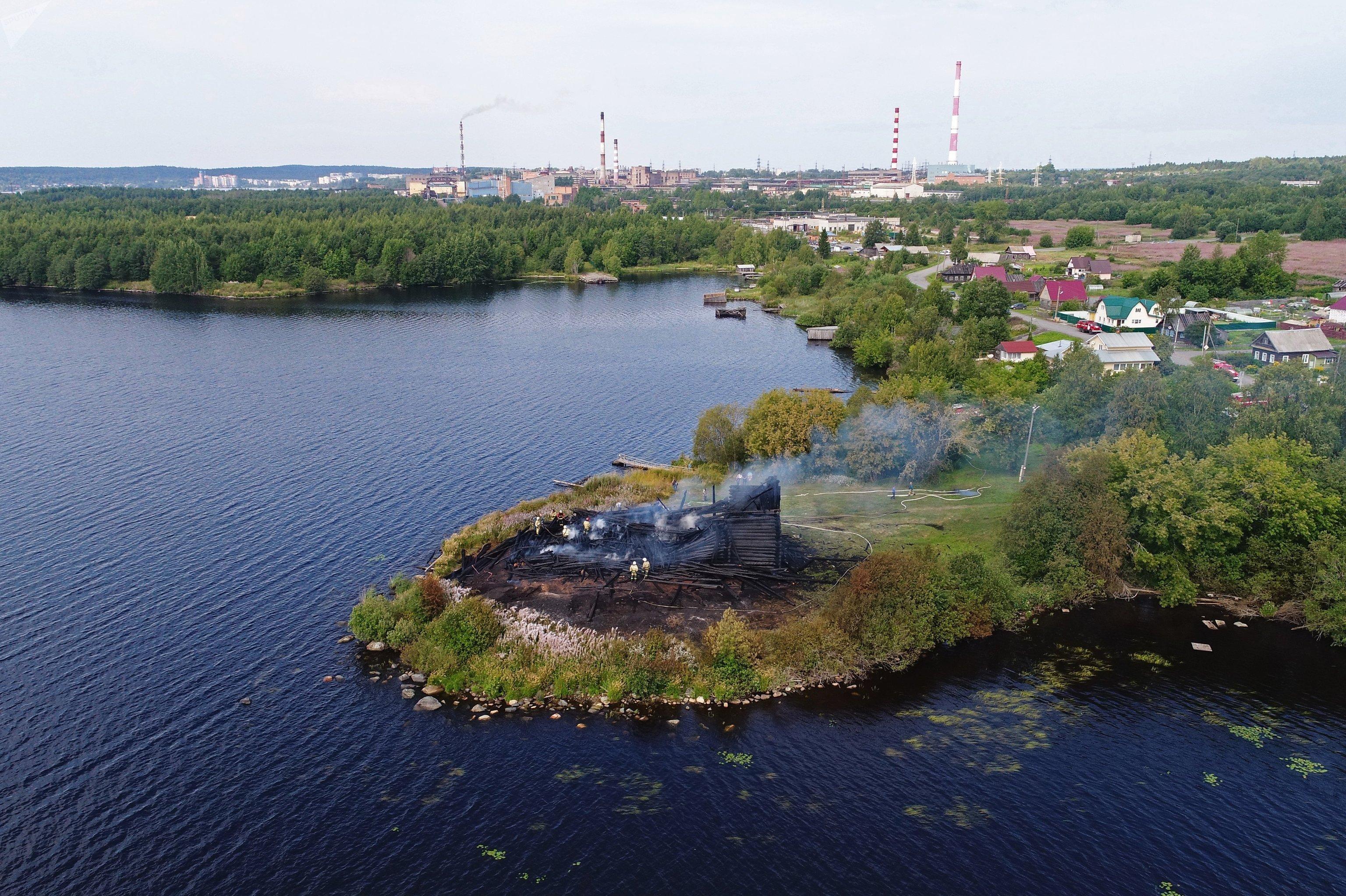 La iglesia de la Asunción, en la ciudad rusa de Kondopoga —Karelia—