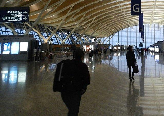 El aeropuerto de Shanghái, foto de archivo