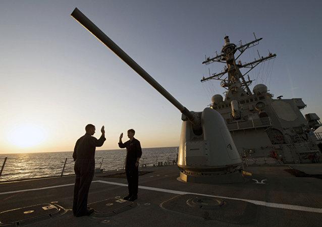 Destructor de EEUU, USS Carney (foto archivo)