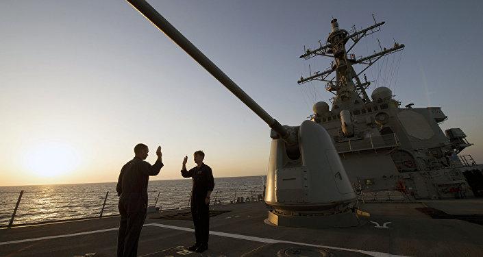 Destructor de EEUU USS Carney (archivo)