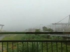 El momento exacto del derrumbe de un puente en Italia