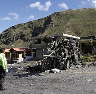 Accidente de autobús en la carretera Pifo-Papallacta, Ecuador
