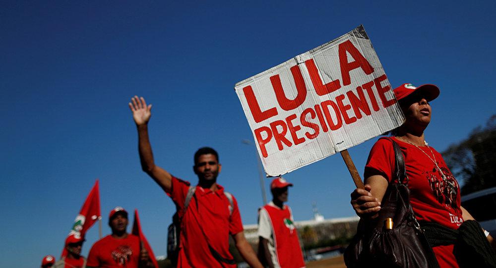 Registran a Lula da Silva como candidato a la presidencia de Brasil
