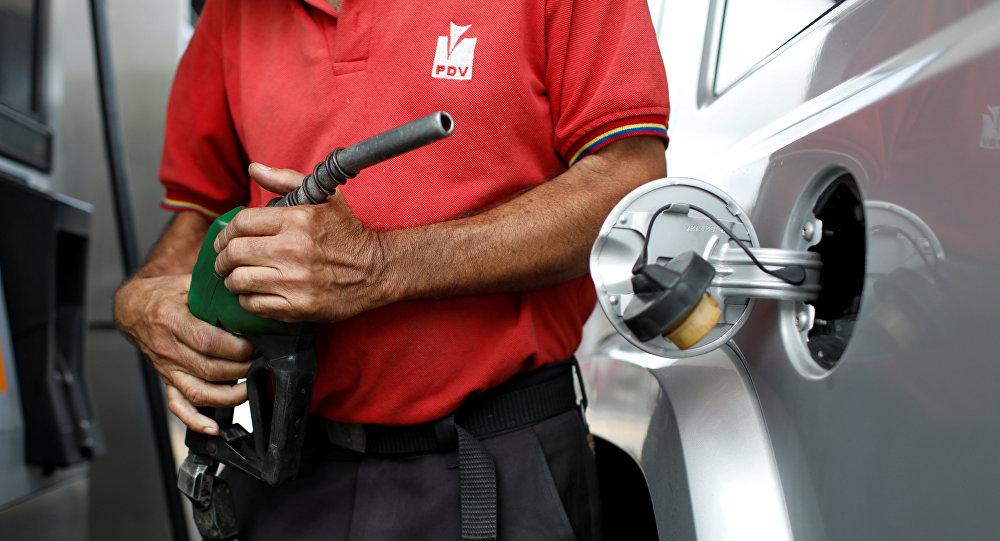Estación de gasolina de la compañía venezolana PDVSA