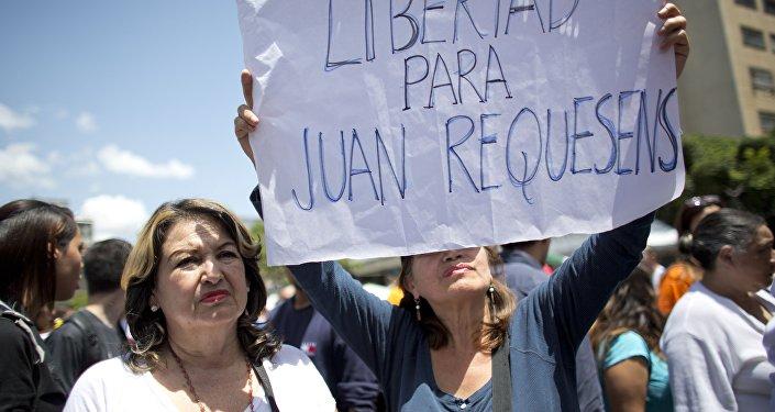 Protestas contra la detención del diputado Juan Requesens