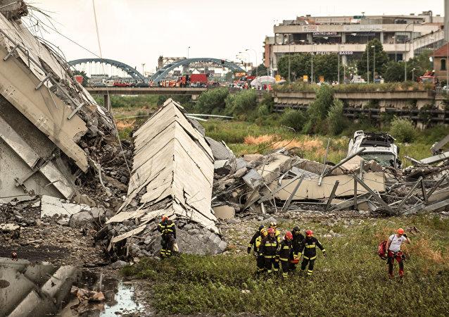 Derrumbe del puente de Génova