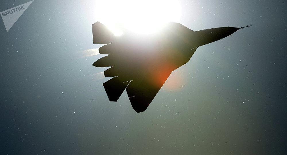 Caza polivalente de la quinta generación Su-57 (archivo)