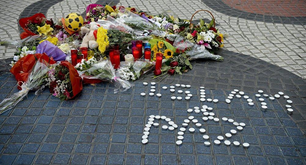 Homenaje a las víctimas del atentado en Las Ramblas de Barcelona