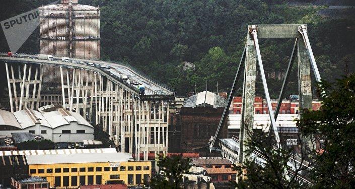 Colapso del puente en Génova