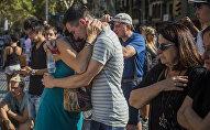 Homenaje a las víctimas del atentado en Barcelona (archivo)
