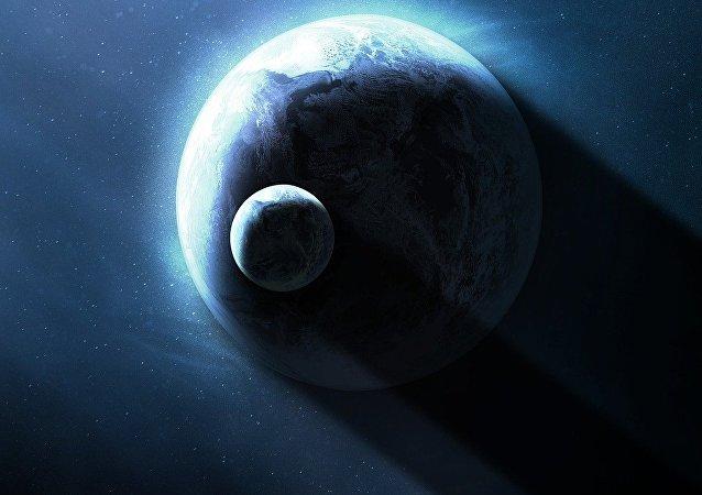 La Tierra y la Luna (imagen referencial)
