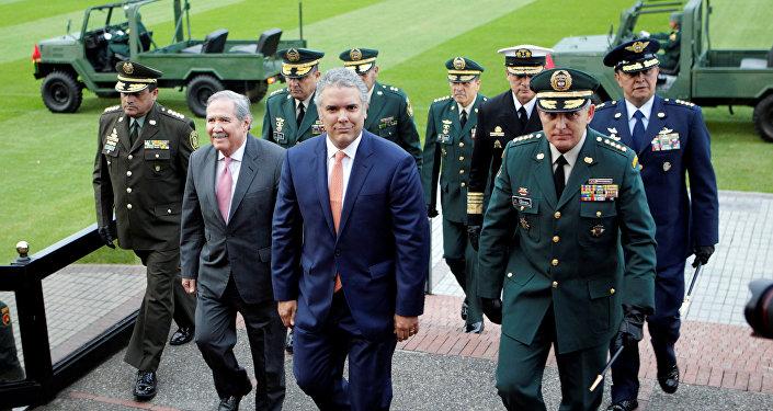 Presidente colombiano Duque se reúne con secretario de Defensa de EEUU